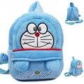 2015 Azul Doraemon saco shool sacos crianças mochila de pelúcia do bebê design bonito mini sacos para criança presente de Aniversário presente de Natal