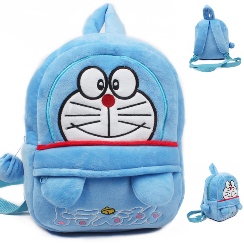 2015 Blue Doraemon Baby Bag Plush Shool Bags Kids Backpack Lovely Design Mini Bags For Child Birthday Gift Christmas Present