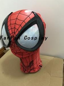 Image 2 - 3D Spiderman Masks Big Spiderman Lenses Spiderman Mask for Halloween Party Costume Props Adult Hot Sale