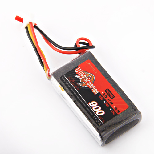 1pcs Wild Scorpion 7.4V 900mAh 25C LiPo Battery For RC Quadcopter Drone Helicopter Car Airplane  цена и фото