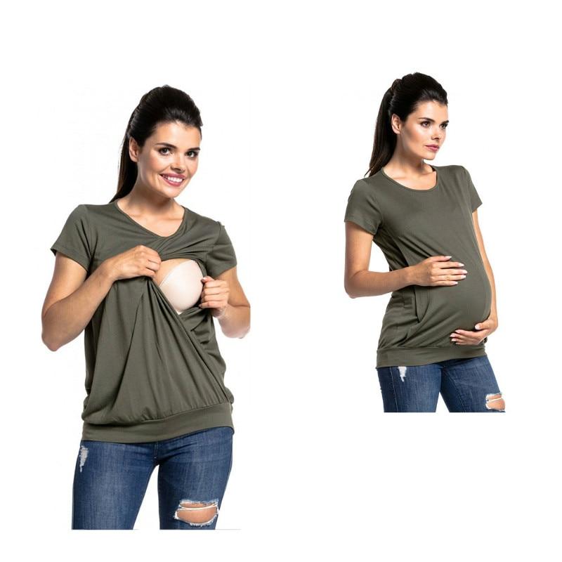 Оптовые для качества Одежда подобных на 💎 мам Куртка комплексную. Купить  Короткий рукав Летняя одежда для беременных Грудное вскармливание футболка  для Для ... 026528ae961