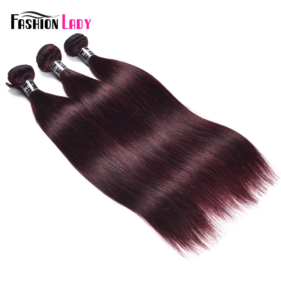Fashion Lady Pre-Colored Peruvian Human Hair Weaving Straight Hair 3 Bundle Deals Dark Purple Hair Bundles Non-Remy Hair