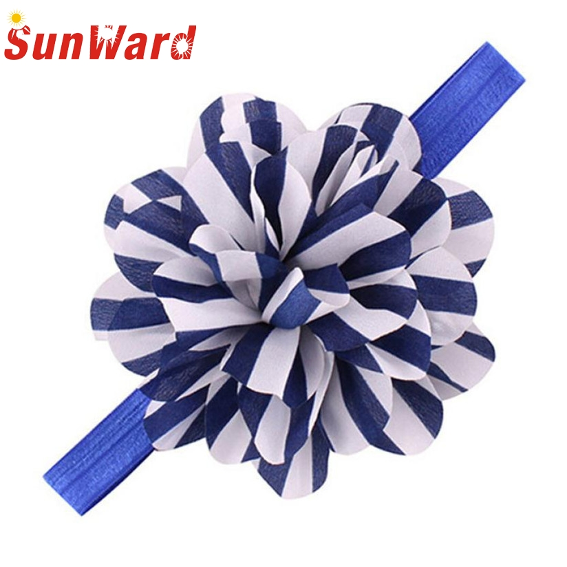 Hair Accesories Girls Headbands Striped Flower Headbands For Girls  Hair Band 12 Colors Drop Shipping WDec16 Drop Shipping