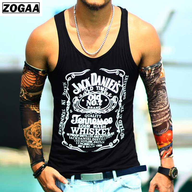 Men fashion Vest Printing Black   Tank     Top   Cute Summer   Tank   for men genlteman boys