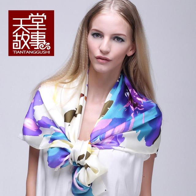 Шелк Mulberry шарф весна осень женщины дизайн длинная шелк шарф cape100 % чистого шелк шарф платки шарф пашмина