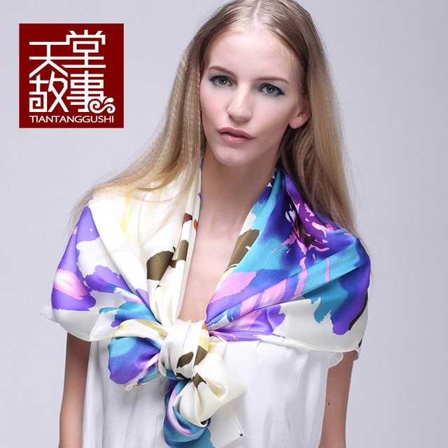 Mulberry silk scarf 2014 spring autumn women's design long silk scarf cape100%pure silk scarf famous brand shawls scarf pashmina