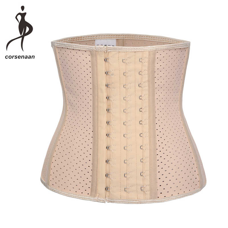 95bbd442a2e ... 9 Steel Boned Women Latex Short Torso Waist Trainer Corset for Weight  Loss Workout Shaper Belt ...