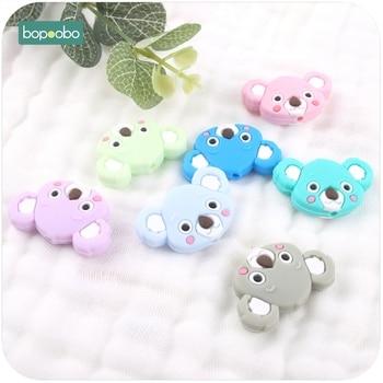 Bopoobo 3pcs Silicone Beads Cute Teething Koala  Lovely Mini Accessories Jewelry Making DIY Baby Teether