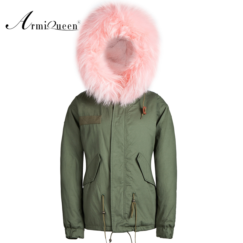 whole new brand latest design real raccoon dog furs hooded men military parka
