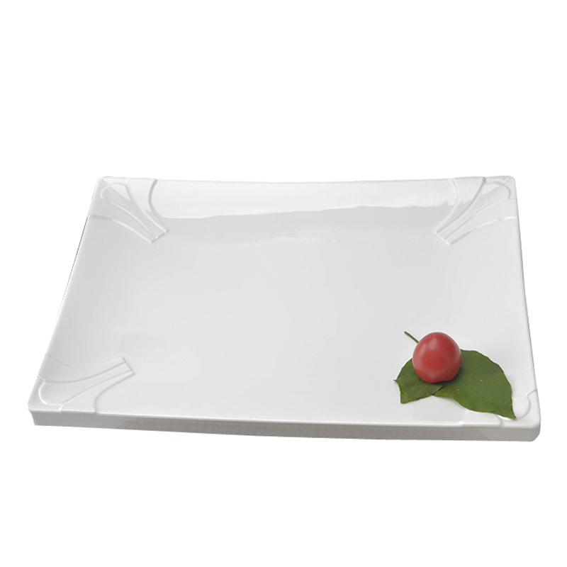 Hot Sale Melamine Food Dishes Simple White Tableware Rectangle Shape Porcelain Plate For Fish Vegetable Steak Restaurant use -in Dishes \u0026 Plates from Home ...  sc 1 st  AliExpress.com & Hot Sale Melamine Food Dishes Simple White Tableware Rectangle Shape ...