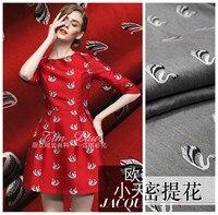 150cm swan jacquard fabric meter crisp fashion dress jacket DIY jacquard cotton fabric wholesale jacquard cotton cloth