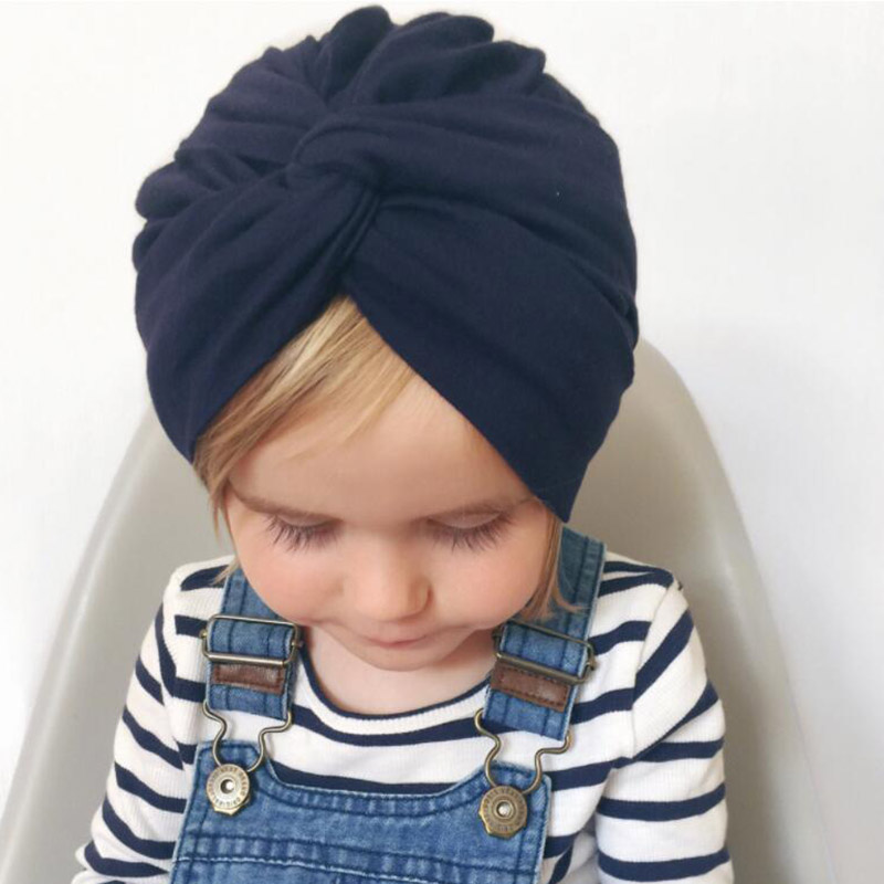 Soft Cross girls Indian Cap children Crossed Turban Hats Twisting Hat Beanie Toddler Infant Kids Caps Lovely Bonnet Accessories
