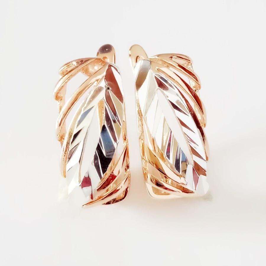 Earrings for Women 585 Rose Gold Color Jewelry Office Style Drop Earring Fashion Jewelry