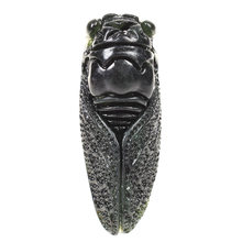 1Pc Exquisite Green Jade Hand-Carved Pendant Cicada Cute Insect Statue Home Party Decoration Hand Crafts Figurines Miniatures(China)
