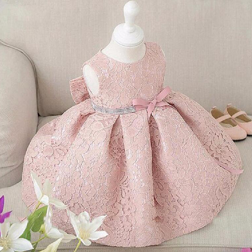 Summer Princess Baby Girls Dress dåp Christmas Wedding Sideant Toddler Girl Klær Belt Infant Party Kjoler jenter kle