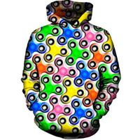 2018 FASHION MEN WOMEN Colorful Fidget Spinner HOODIE 3D Hoodie Sweatshirts Pullovers Autumn Tracksuit Winter Loose Thin Hoody