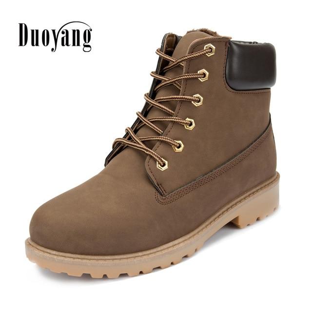 e04f9a470 Homens botas sapatos Masculinos Botas de Inverno 2015 de Couro PU Venda  Quente moda casual de