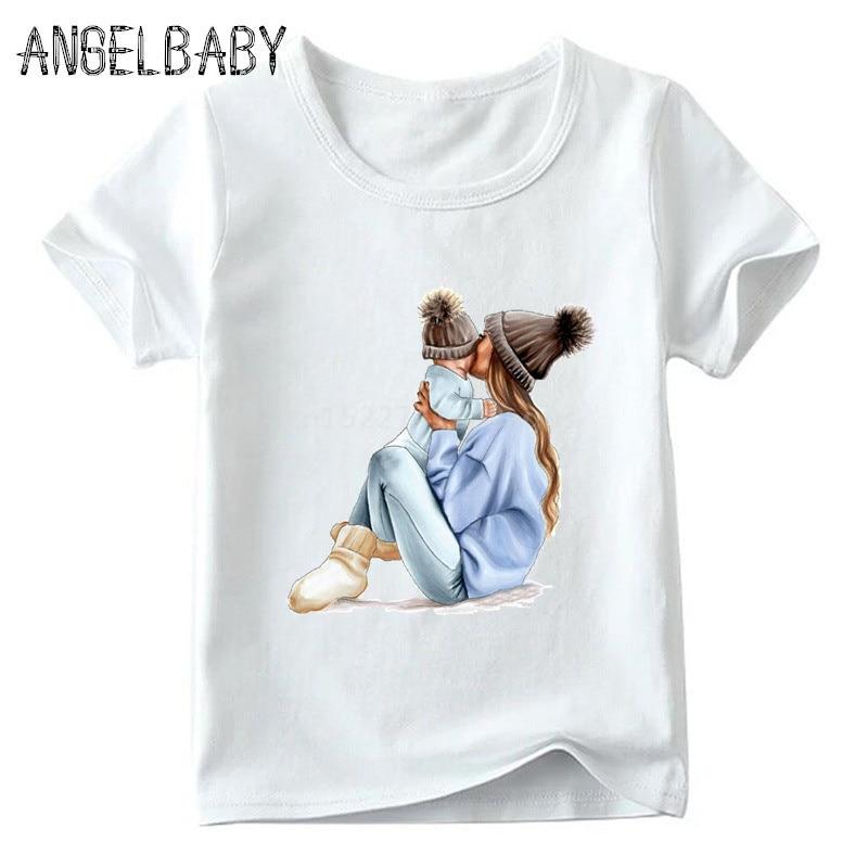 Одинаковые комплекты для семьи футболка для мальчиков и девочек с принтом супермамы и дочки одежда для подарка на День Матери Забавные футболки для детей и женщин - Цвет: 5281H