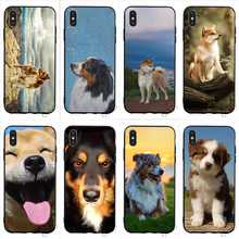 Colorful Australian Shepherd Shiba Inu Dog Phone Cover for iPhone XR Case Xs Max X 6 6S 8 Plus 7 5S 5 SE Silicone