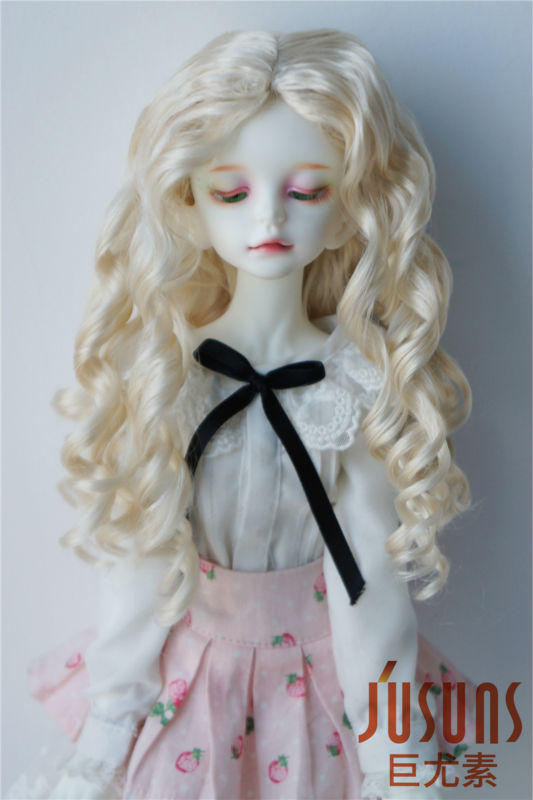 JD285  18.5-20 cm Doll wigs  1/4 MSD Long wave Nobel princess BJD wig   7-8inch synthetic mohair doll accessories d20313 1 4 msd mohair doll wigs princess long curly bjd wig 7 8inch doll accessories