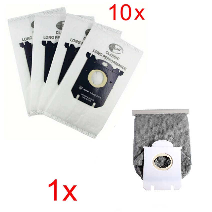super price 10x Vacuum Cleaner Dust Bags s-bag and 1x washable bag fit for Philips Electrolux Cleaner Free Shipping цены
