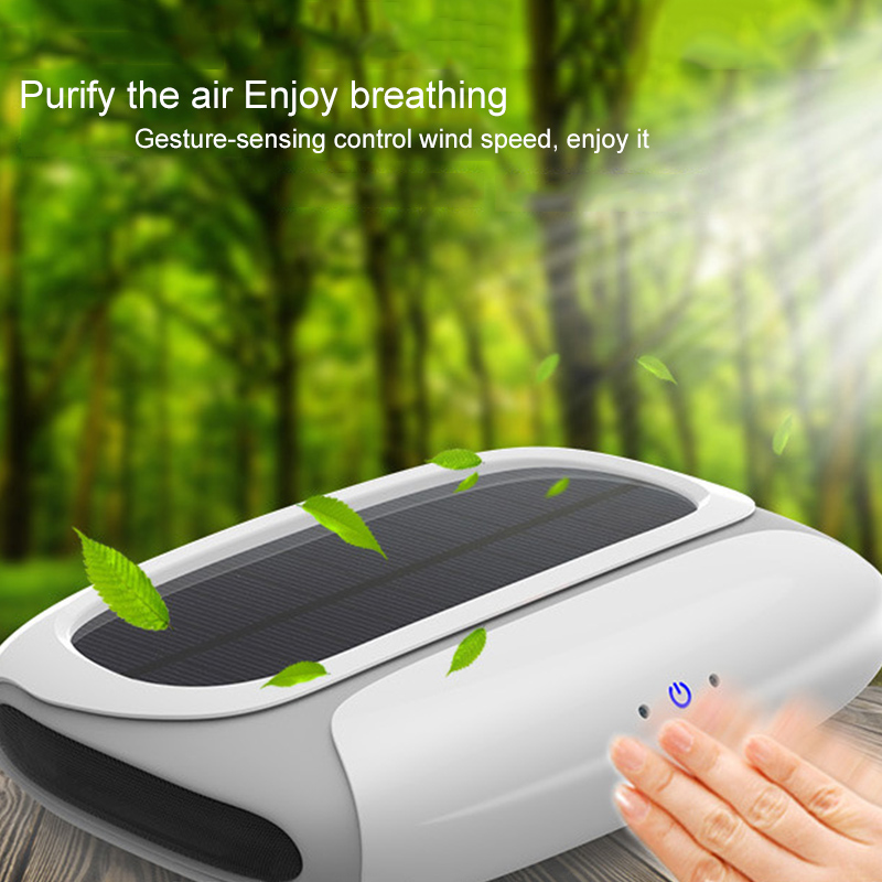 MALUOKASA Solar Energy Car Air Purifier Auto Vehicle Air Cleaner HEPA Filter Anion Oxygen Bar Deodorize Smell Formaldehyde Smoke free shipping home mute air filter remove haze formaldehyde pm2 5 smell smoke bedroom oxygen bar pdf35c air purifier