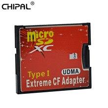MJTEK Adaptador de tarjeta Micro SD TF a CF, Micro SDHC a Flash compacto tipo I, convertidor de lector de tarjetas de memoria