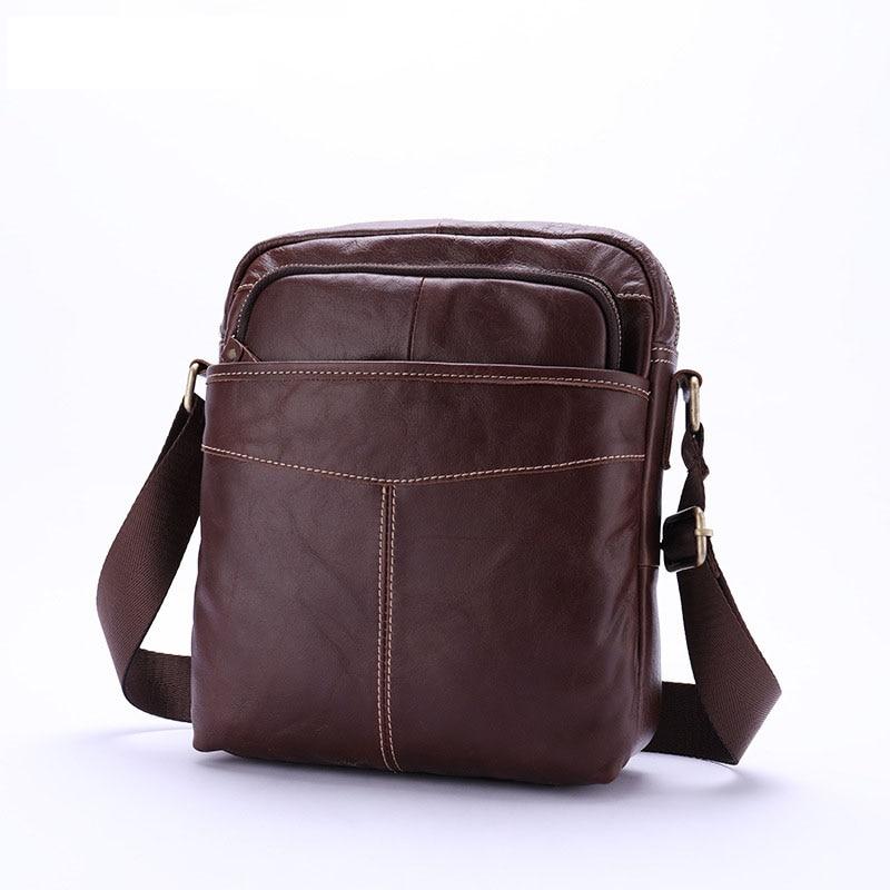 Newest Genuine Leather Men Shoulder Bag Messenger Bags Cow Leather Male Travel Crossbody Bag Handbags Men Bag for Travel цена 2017