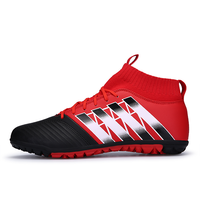 161893c3d Indoor football shoes with ankle Footballs futsal boots 2018 sneakers  soccer shoes for man sport boot ankle sock cotton socks-in Soccer Shoes  from Sports ...