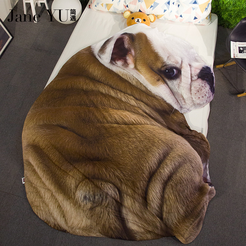 JaneYU Summer Quilt Cute Animal Creative High Quality Irregular Air Condition Quilt Polyester Kids/Adults Blanket On Bed/Sofa