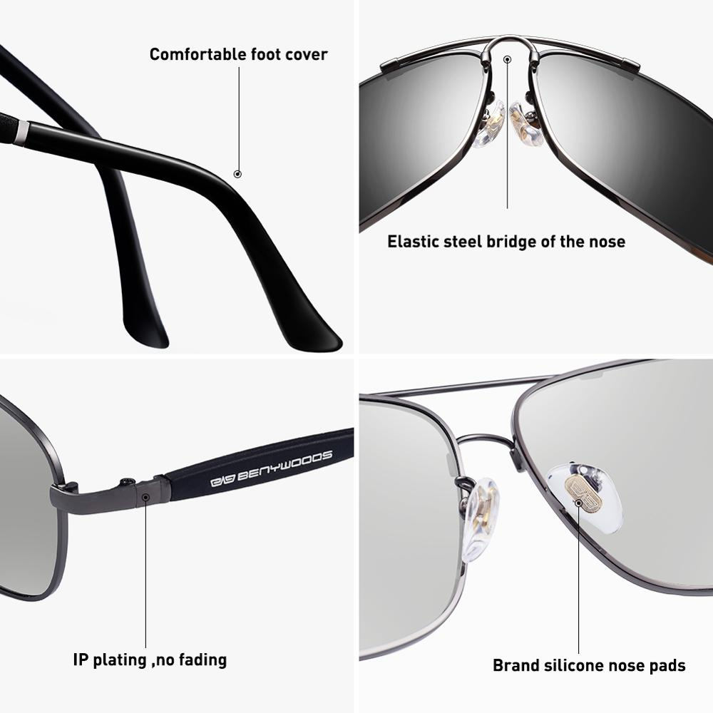 Image 4 - CAPONI Vintage Sunglasses Polarized Men Women Luxury Brand Designer Driving Eye Glasses Square Fashion Sun Glasses UV400 CP10001-in Men's Sunglasses from Apparel Accessories