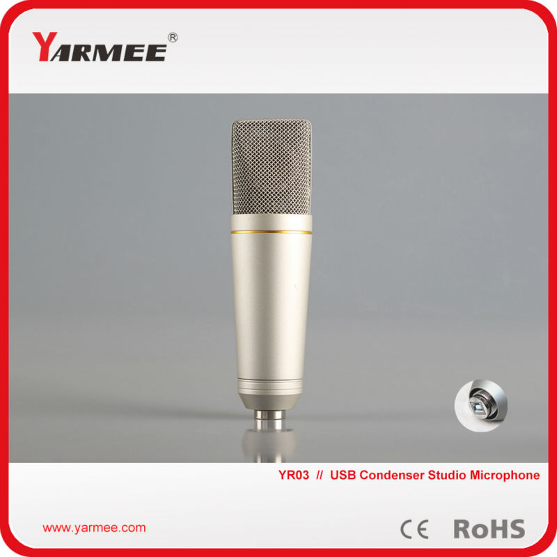 Free shipping personal computer/laptop/pc wired uni directional USB condenser recording microphone YR03 free shipping blueskysea 2k s60 body personal security
