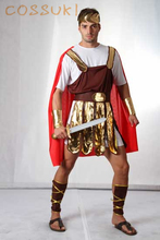 Free Shipping! Halloween Red Cool Adult Men Ancient Rome Warrior Cosplay Costume For Stage Performance Or Masquerade Party