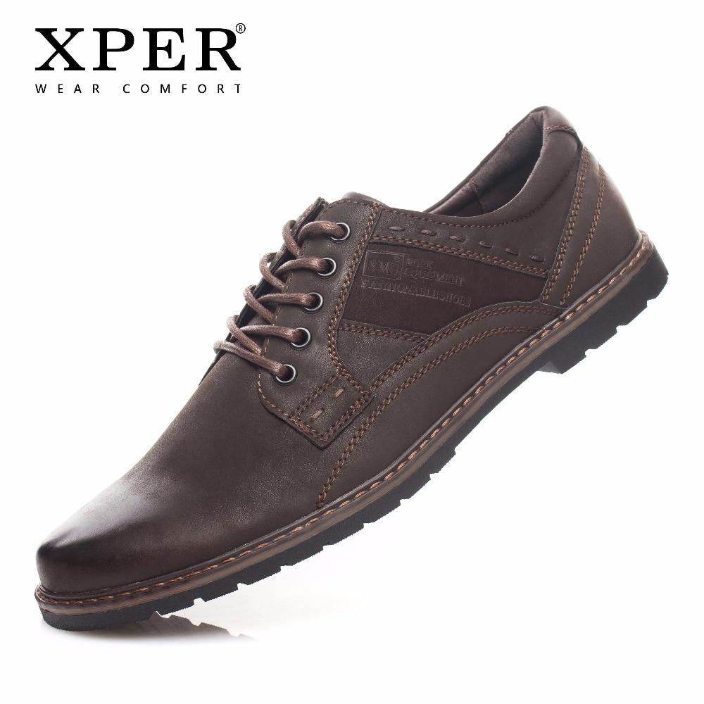 XPER Marca de Moda Homens Sapatos Casuais Desgaste Confortável Homens Andando Sapatos Masculinos Sapatos Baixos Sapatos de Trabalho de Negócios # YM817808812 822