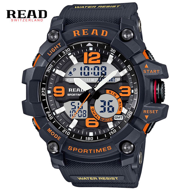 READ Large Mens Watch G STYLE Clock Alarm Army Military Quartz Men Wrist Watches Large Dial Relojes Hombre Digital Sports Wathes summer style mens boy relojes military army sports watches quartz nylon band relogio easy to read wrist watch