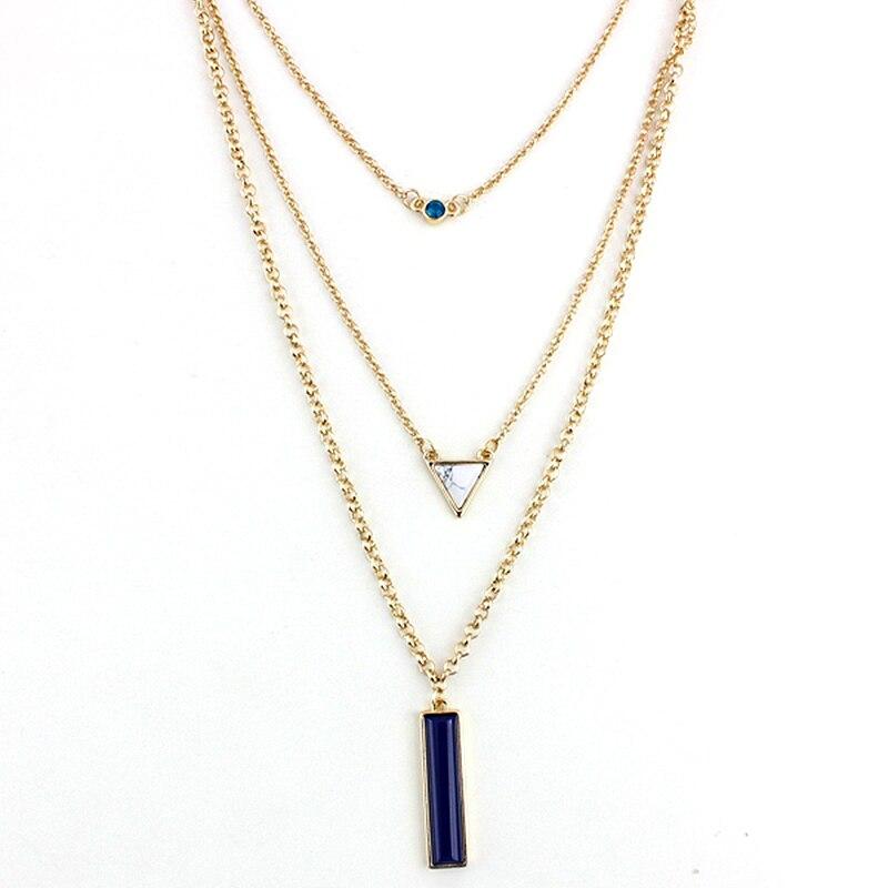 collier femme pendentif long
