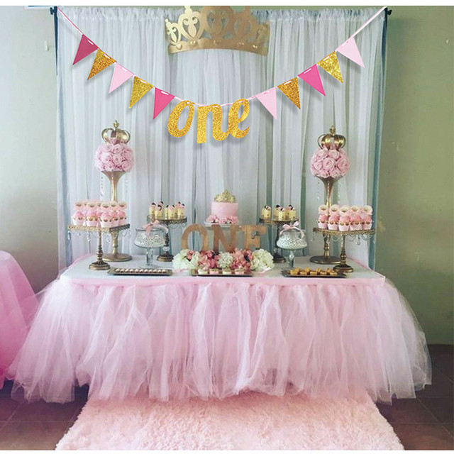 Baby First Birthday Chair Banner 1st Birthday Party Decoration
