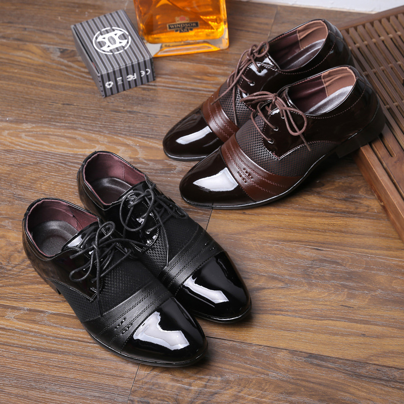 Leather Shoes For Men Young Korean Version Of Big Code Men Shoes Zapatos De Baile Latino Latin Dance Shoes Banquet Dance Male