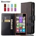 Роскошные Бумажник PU Leather Case For Nokia Lumia Microsoft Lumia 430 435 520 530 535 550 620 625 630 640 650 730 Крышка Отсека для Карты держатель