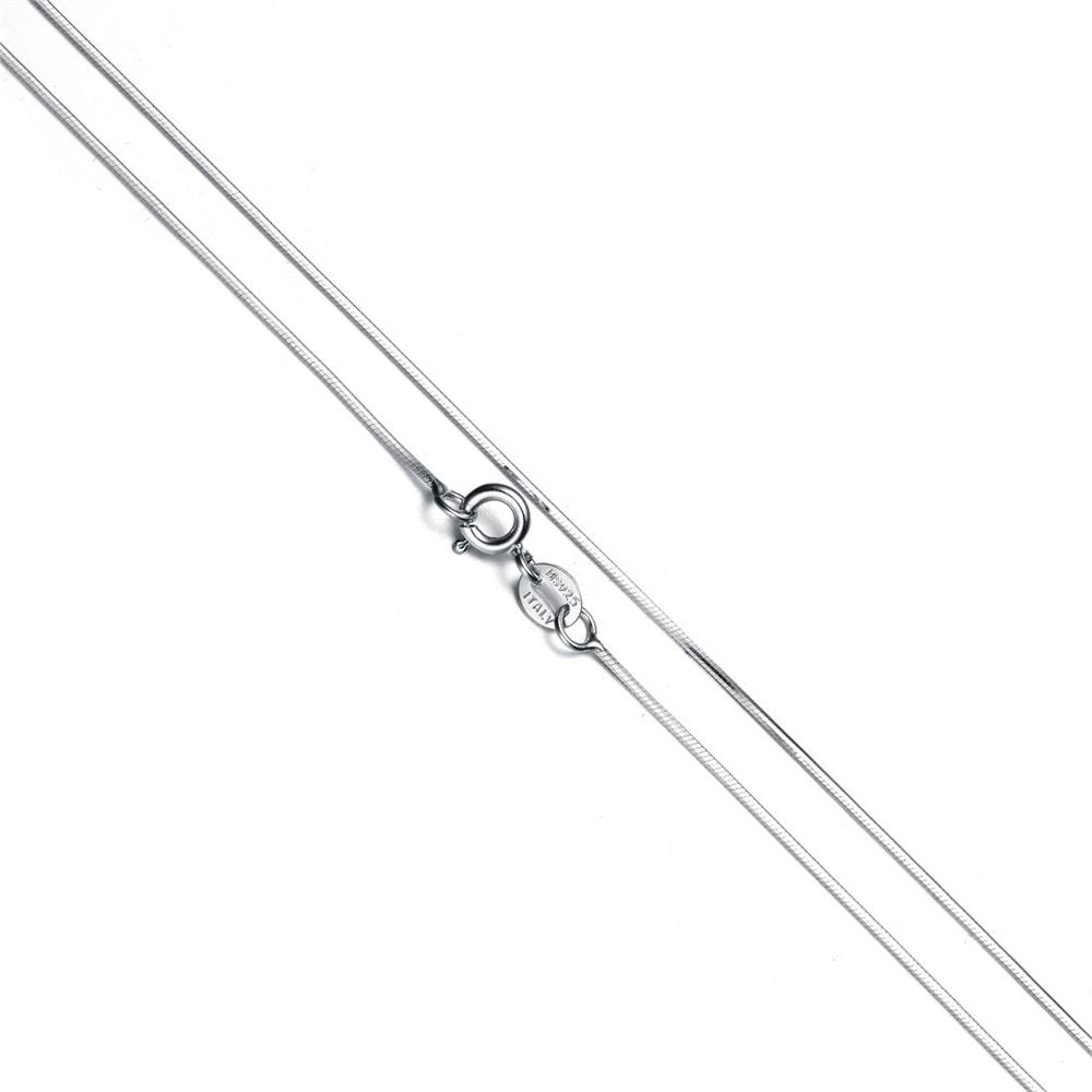 18 22 24 Length s925 Sterling Silver Snake Link Chain Fit Necklace Pendants Womens Men Charms