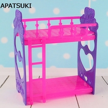Kid's Play House Toys Doll Accessories Handmade Doll's Plastic Bunk Bed For Kali dolls For Barbie Dollhouse