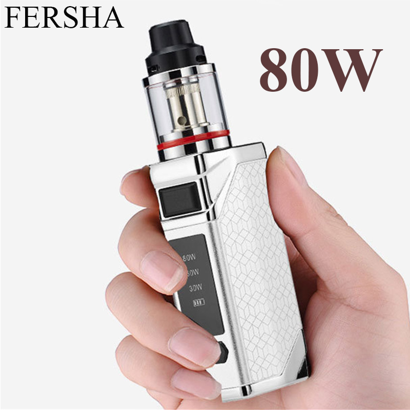 FERSHA 80 W Kit de Cigarette électronique 2200 mAh batterie Vape mod narguilé 2.8 ml e-cigarette atomiseur 510 métal corps Vaper arrêter de fumer