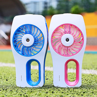 handheld misting fans Portable Humidifier Fan mini fan usb Rechargeable air conditioner Diffuser ventilador del humidificador
