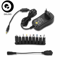 DIGOO DG UA10 3 12V Universal 10 Selectable Charger Adapter Multi Voltage Switching Micro USB Plug
