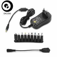 DIGOO DG UA10 3 12V Universal 10 Selectable Charger Adapter Multi Voltage Switching Micro USB Plug