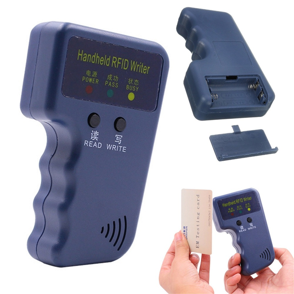 Handheld 125Khz EM4100 RFID Copier Writer Duplicator Programmer Reader Compatible With EM4305 T5577 CET5200 EN4305 leshp handheld 125khz em4100 rfid copier writer duplicator programmer reader 20000 times writer for em4305 t5577 cet5200 en4305