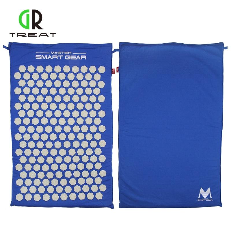 bd8a145d7 Azul Esteira de Massagem Acupuntura Massagem Nos Pés Mat Mat Acupressure  Alívio Da Dor Do Corpo