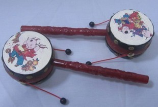 Toy traditional lucky toy rattle drum rattle baby 38