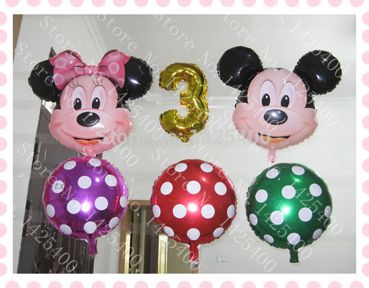 Free shipping 6pcs / lot aluminum balloons toys for children3year old birthday b