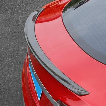 Performans Tarzı Arka karbon fiber bagaj Spoiler Boot Dudak Kanat Tesla Model S Için Sedan 2014-2017